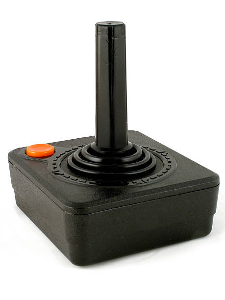 Retro Joystick A classic 80s computer game joystick. joystick stock pictures, royalty-free photos & images