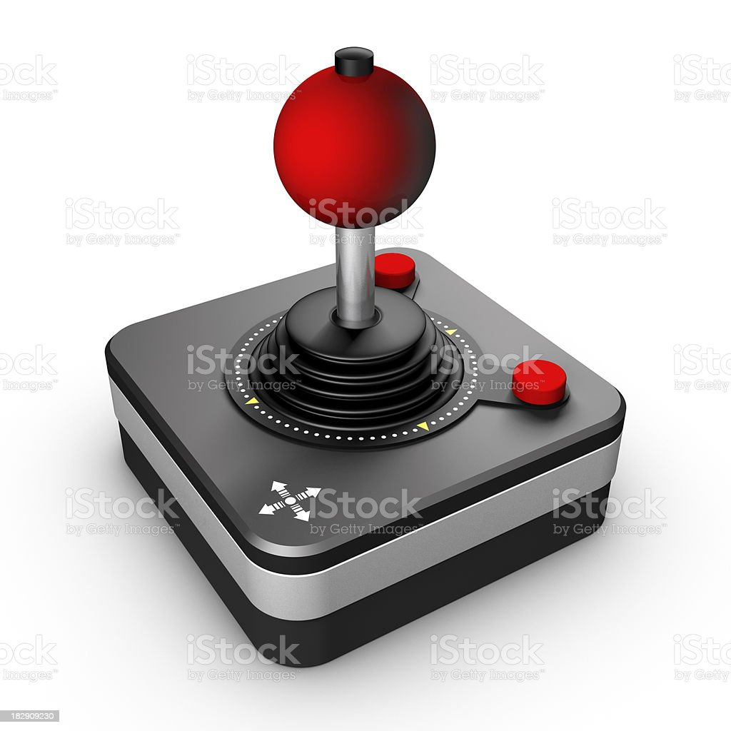 Retro Joystick stock photo