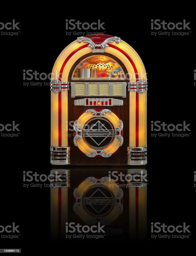Retro Jukebox isolated on black stock photo