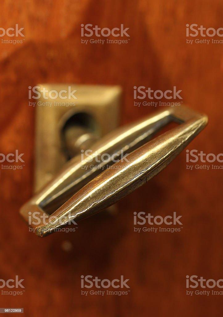 retro key in keyhole royalty-free stock photo