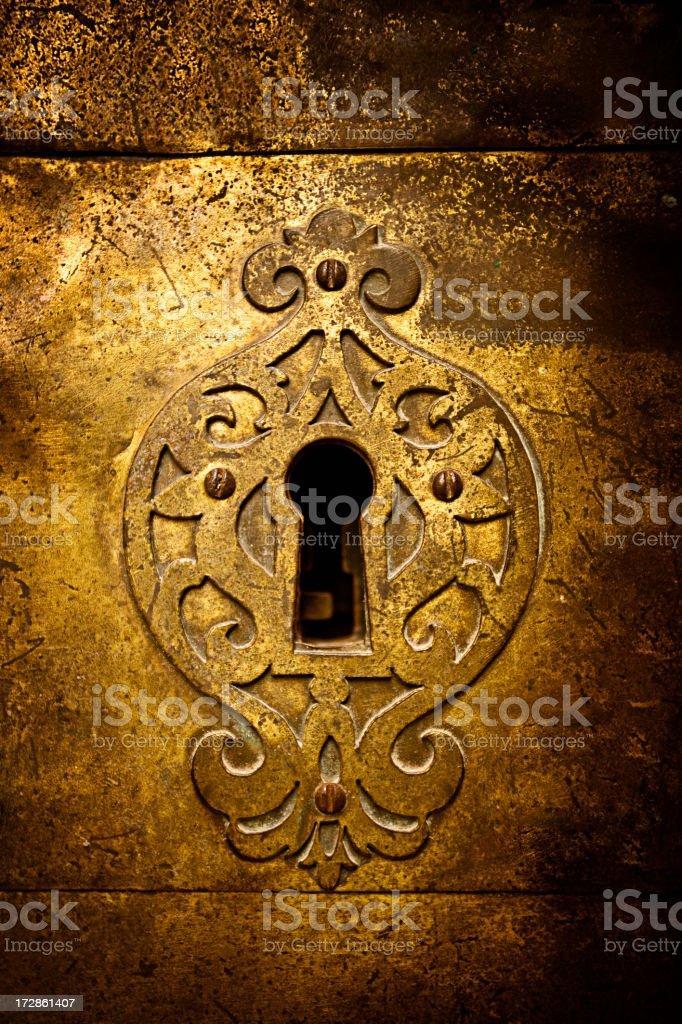 Retro keyhole royalty-free stock photo