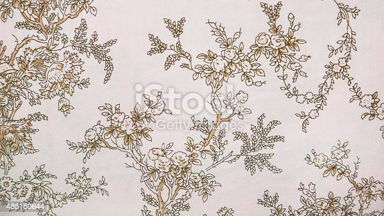 istock Retro Lace Floral Seamless Pattern Brown Fabric Background Vintage Style 485150644