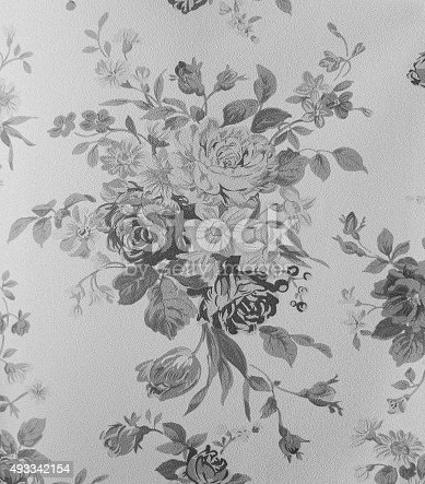 istock Retro Lace Floral Seamless Pattern Fabric Background Vintage Style 493342154