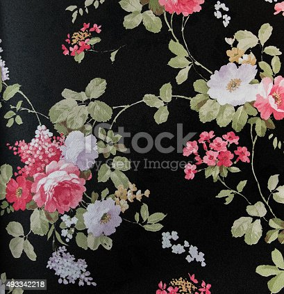 istock Retro Lace Floral Seamless Pattern Fabric Background Vintage Style 493342218