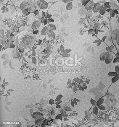 istock Retro Lace Floral Seamless Pattern Fabric Background Vintage Style 495036544