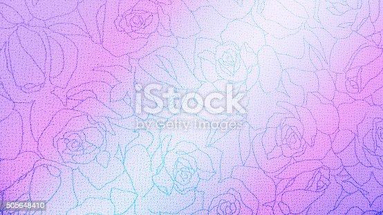 istock Retro Lace Floral Seamless Pattern Fabric Background Vintage Style 505648410