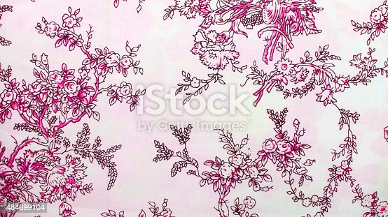 istock Retro Lace Floral Seamless Pattern Pink Fabric Background Vintage Style 484699104