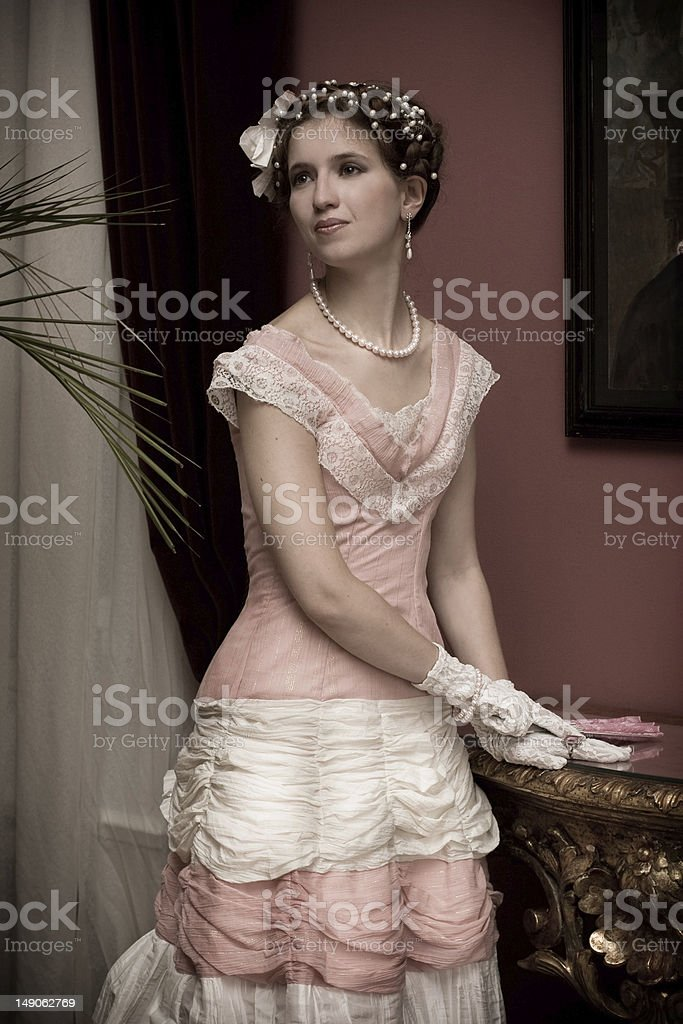 Retro lady royalty-free stock photo