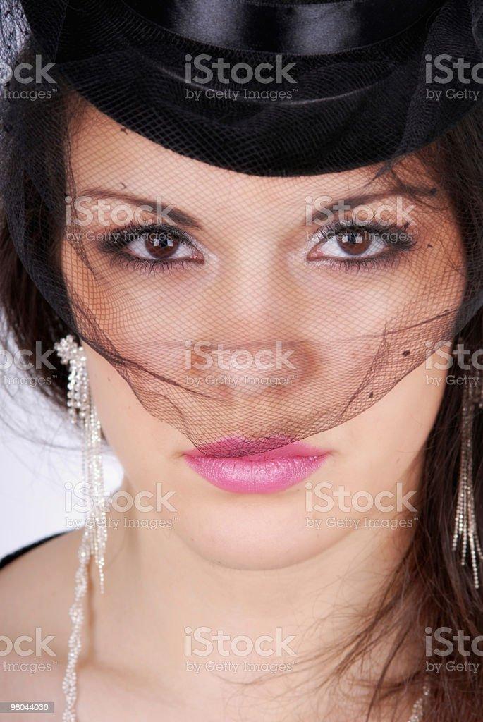 Retro lady. royalty-free stock photo