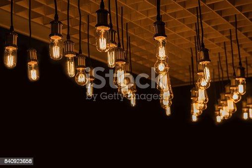 1137999886 istock photo Retro lamp background 840923658