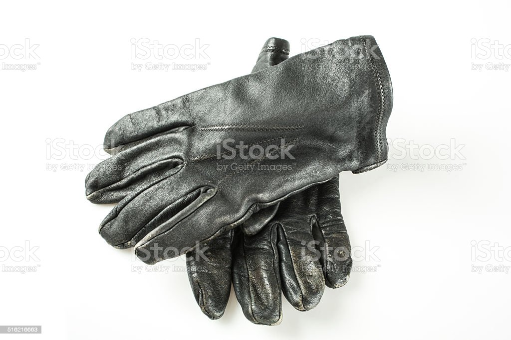 Retro Leather Gloves stock photo