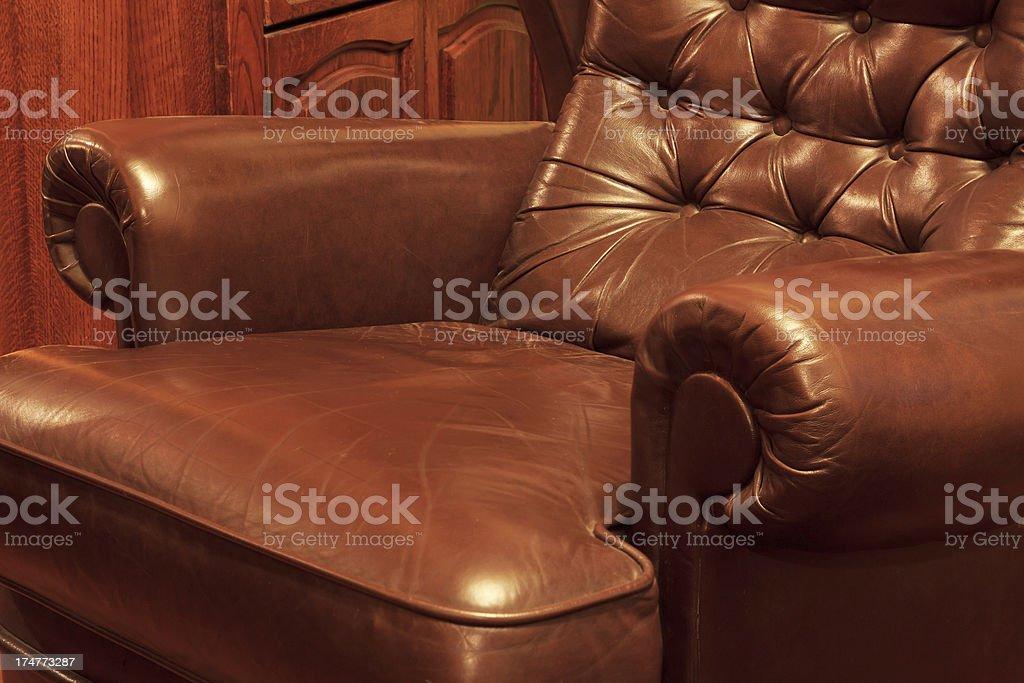 Retro Leather Sofa Stock Photo - Download Image Now - iStock