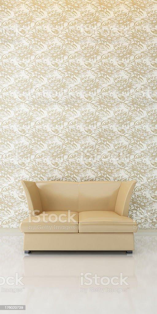 Retro Leather Sofa royalty-free stock photo