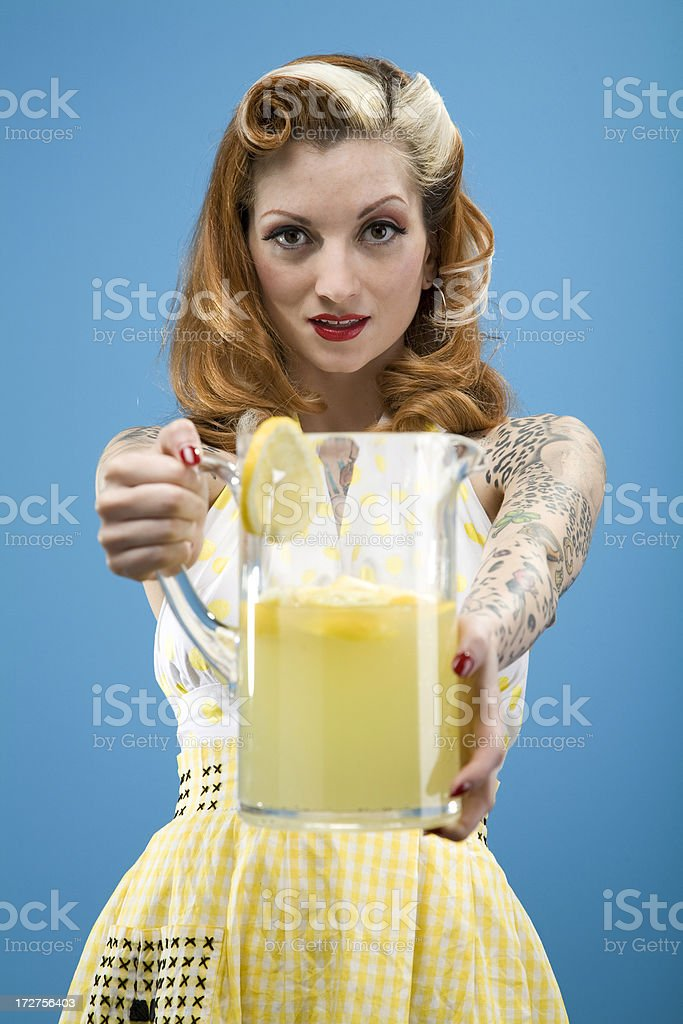 Retro Lemonade Series royalty-free stock photo