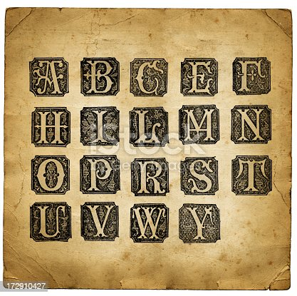 istock Retro letters 172910427
