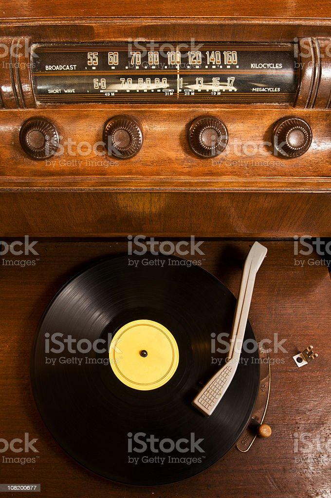 Retro Listening royalty-free stock photo