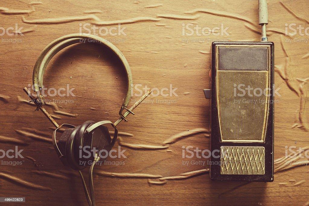Retro Listening stock photo