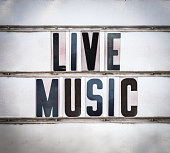 A Retro Vintage And Grungy Live Music Sign Outside A Bar Or Pub Or Nightclub