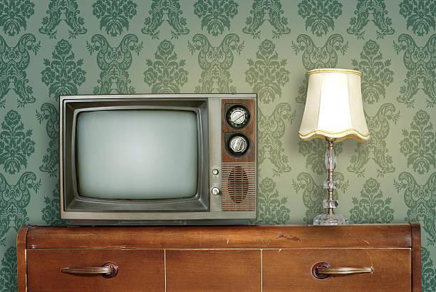 Retro living room stock photo