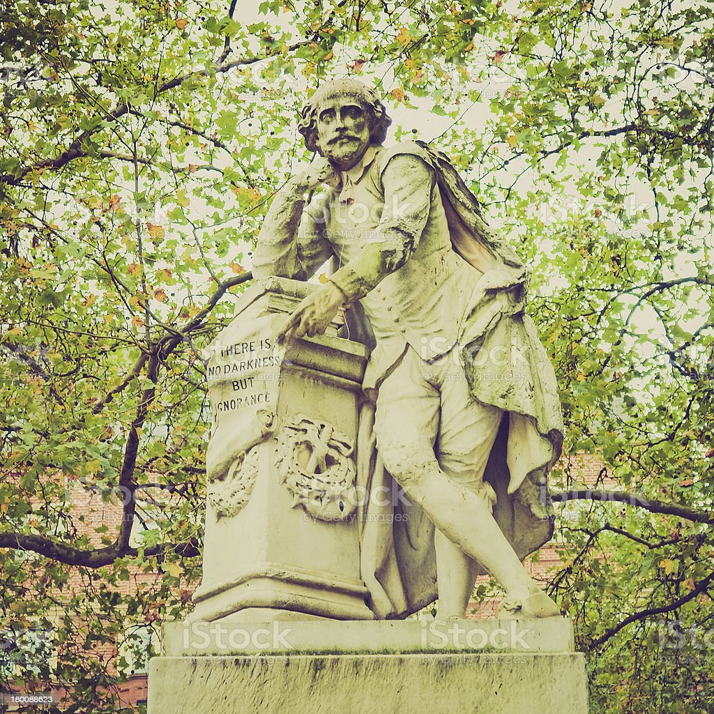 Retro look Shakespeare statue royalty-free stock photo