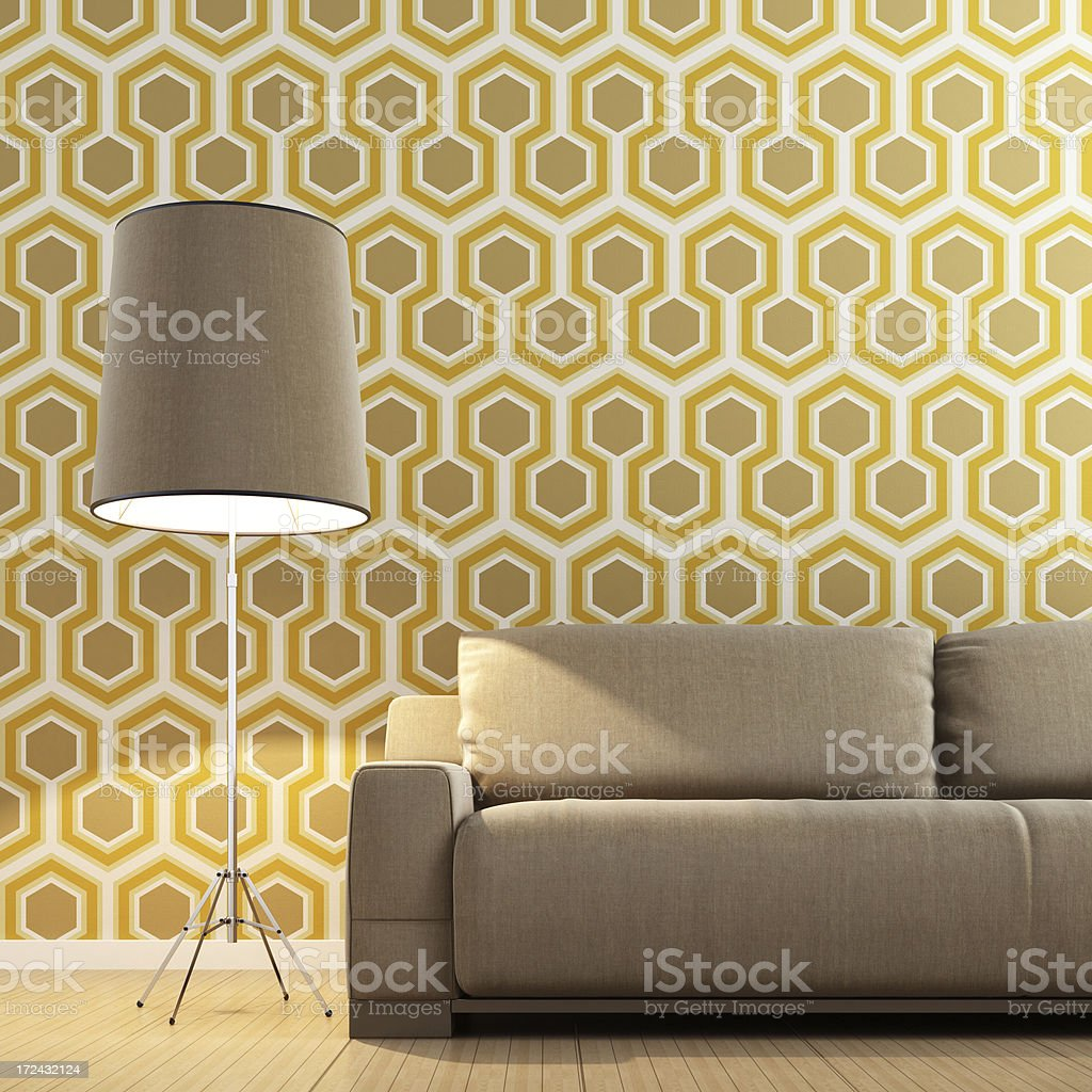 Retro Lounge Interior royalty-free stock photo