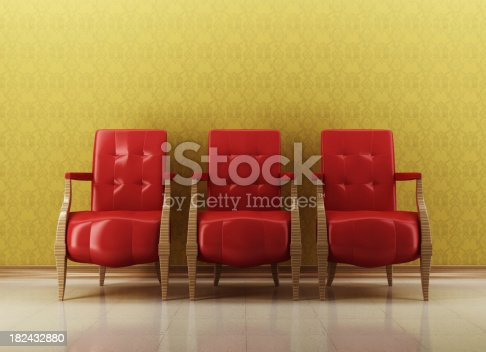 470812928 istock photo Retro Lounge Room 182432880