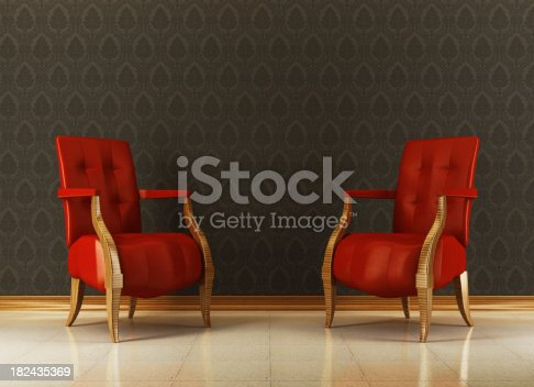 470812928 istock photo Retro Lounge Room 182435369