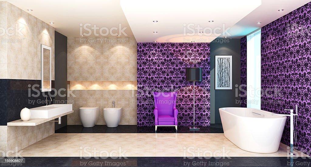 Retro Luxury Bathroom royalty-free stock photo