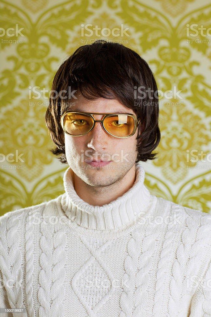 retro Mann vintage Brillen und Rollkragen Pullover – Foto