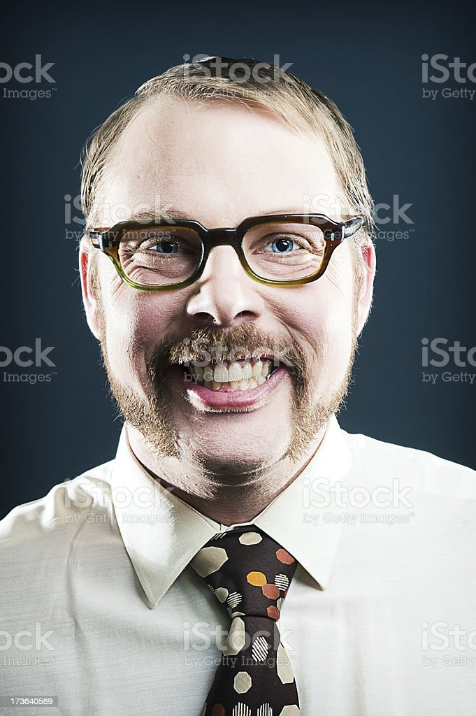 Retro man royalty-free stock photo