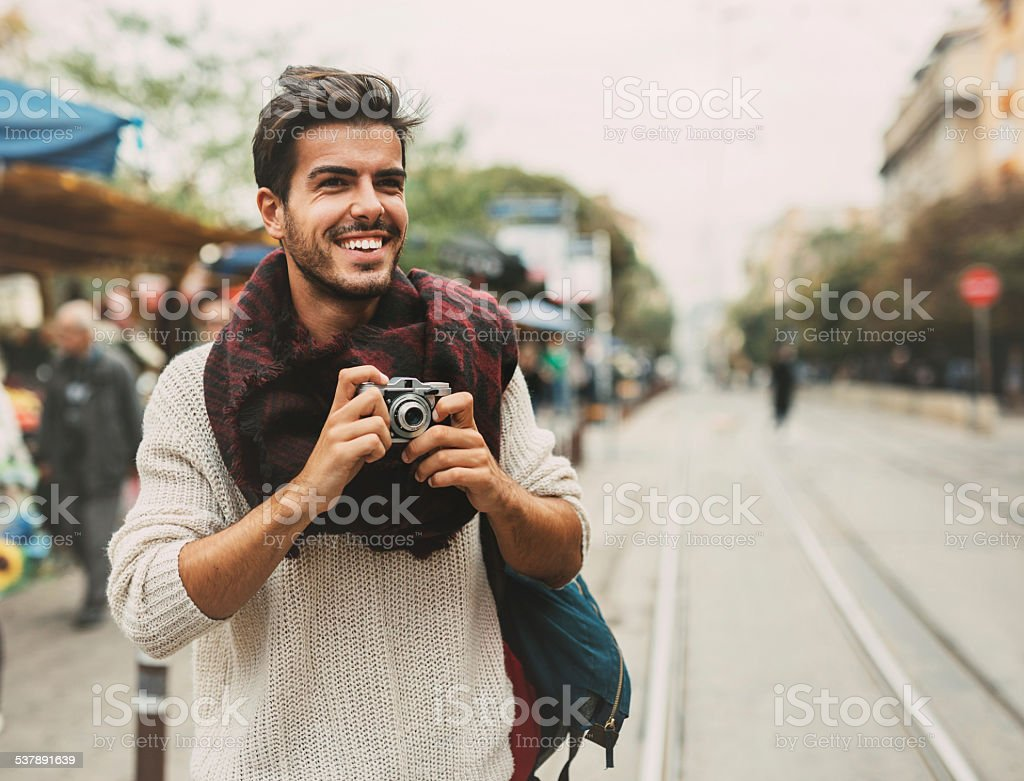 Retro Man stock photo
