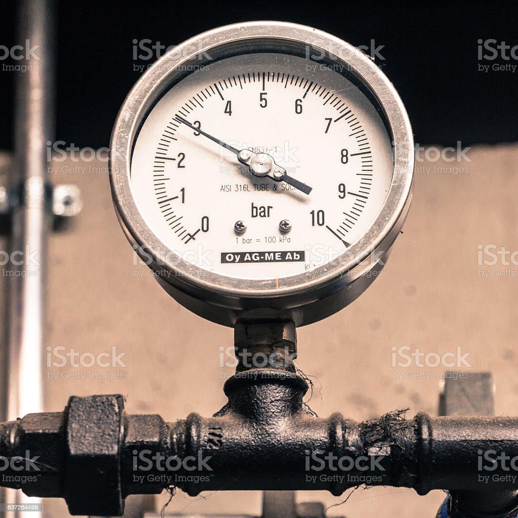 Retro manometer stock photo