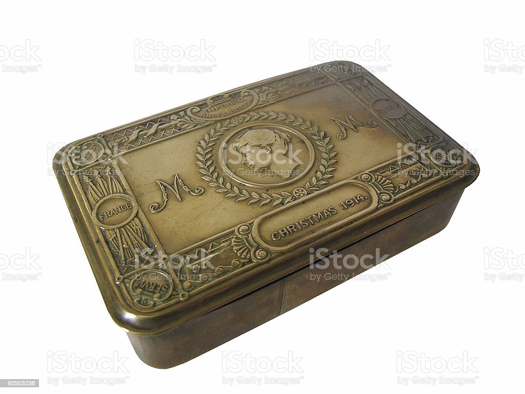 Retro metal box royalty-free stock photo