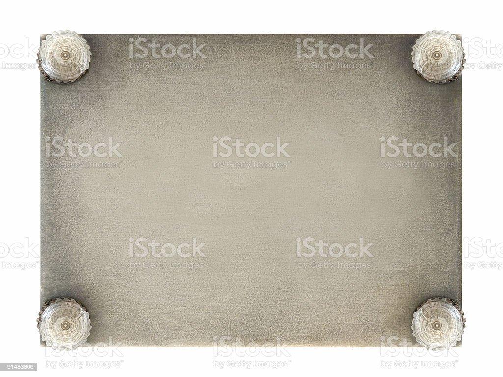 Retro metal plate royalty-free stock photo