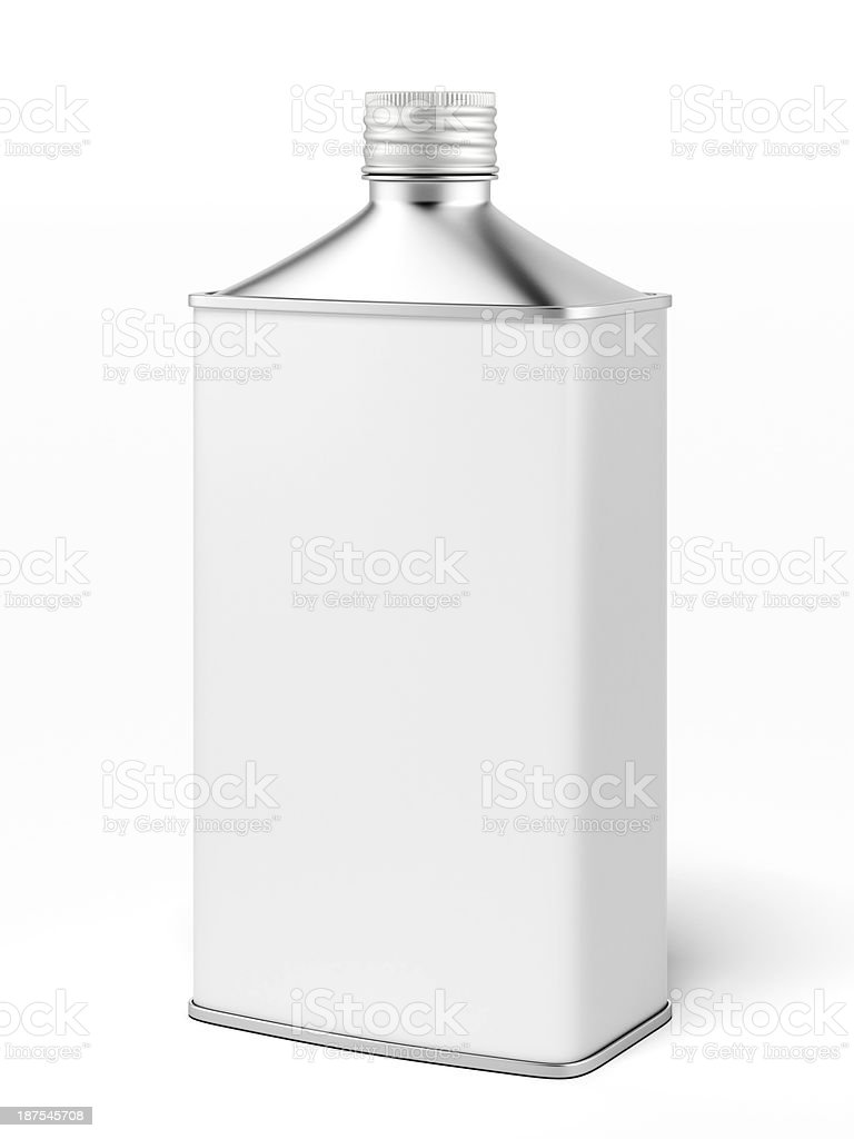 retro metallic fuel container stock photo