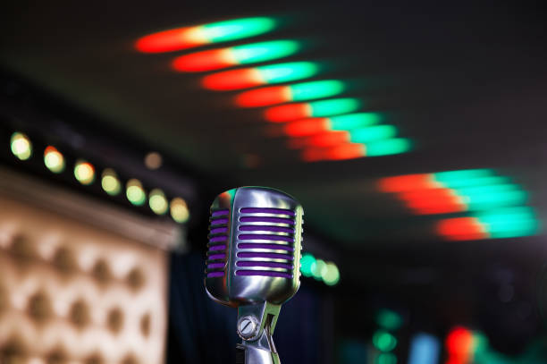Retro-Mikrofon beim Konzert – Foto