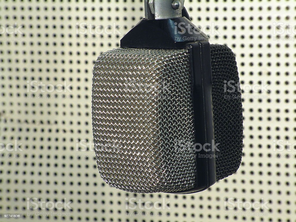 retro-Mikrofon, studio Lizenzfreies stock-foto