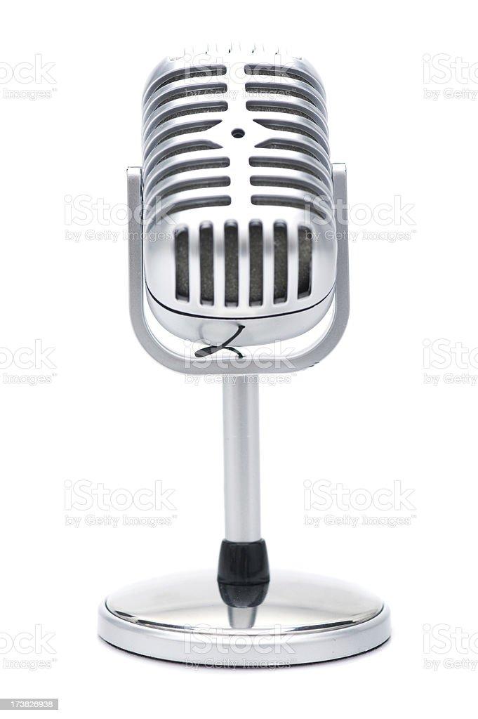 Microfone retrô - foto de acervo