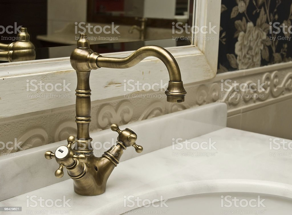 Retro mixer for a washstand royalty-free stock photo
