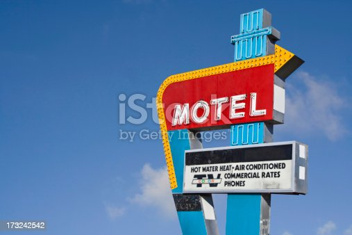 Neon motel sign with room for your own name. Clipping path included so you can use your own background!