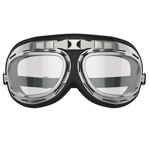 Retro Motorcycle goggles stock photo