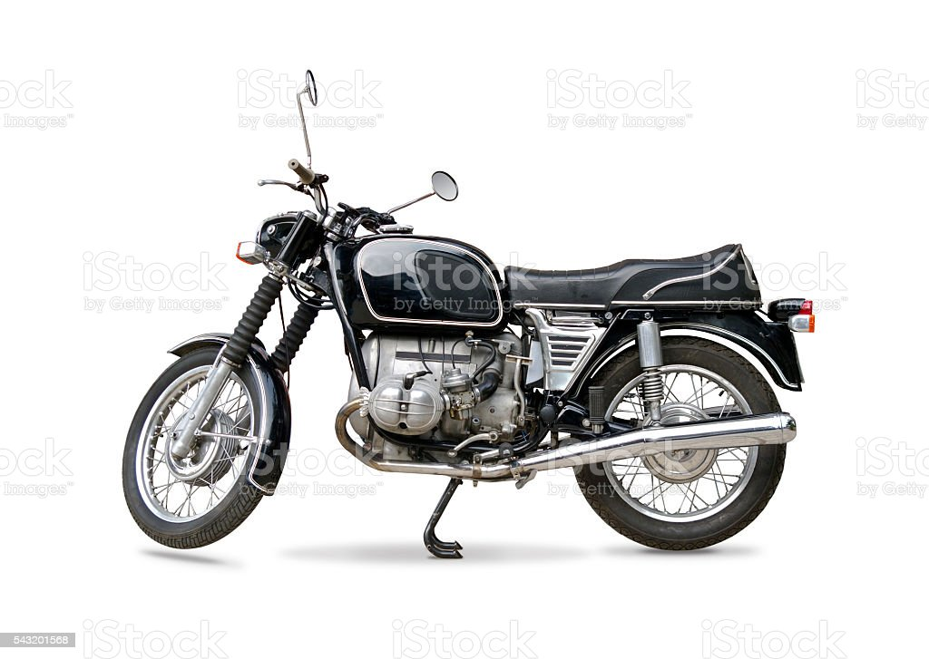 Retro motorcycle stock photo