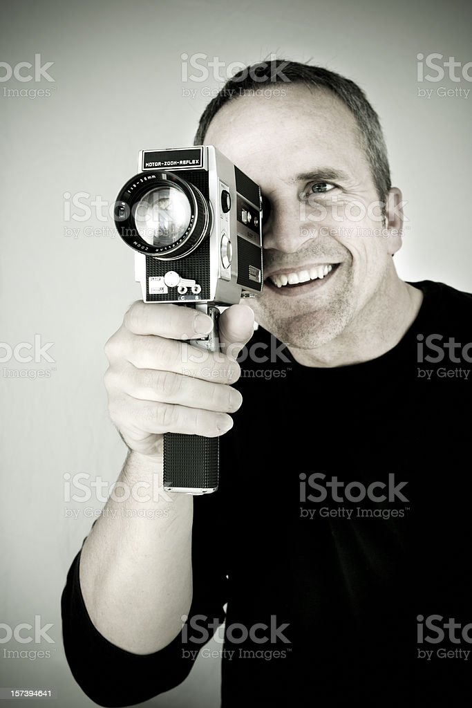 Retro Movie Guy stock photo