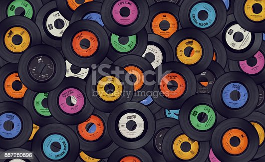 istock Retro music background 887280896
