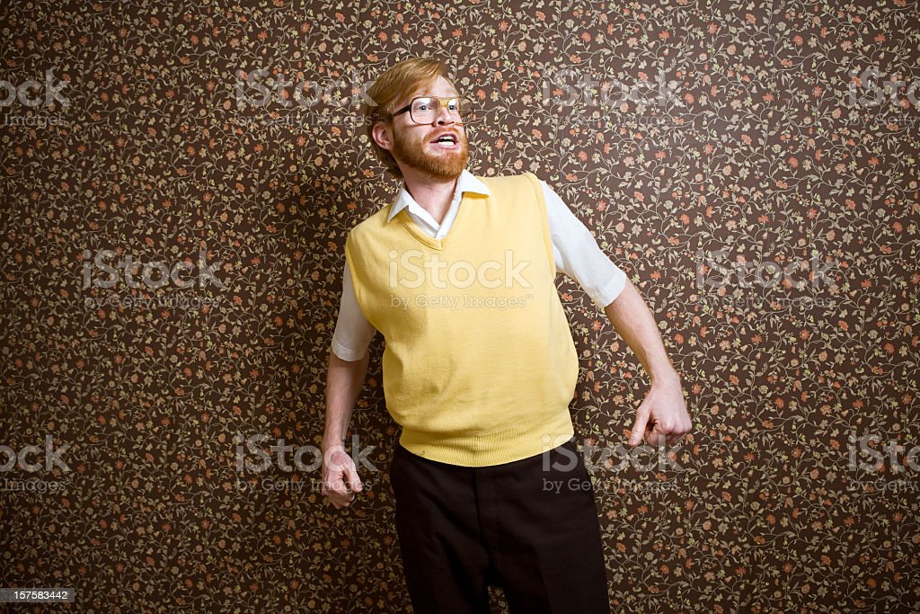 Retro Nerd and Vintage Wallpaper stock photo
