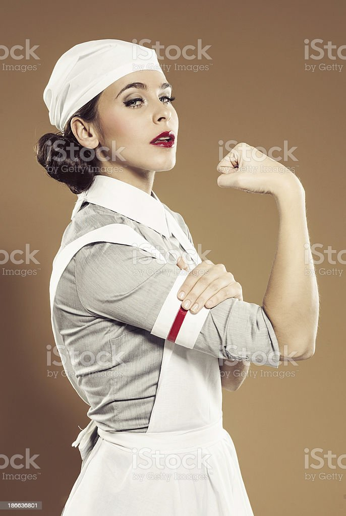 Retro nurse royalty-free stock photo