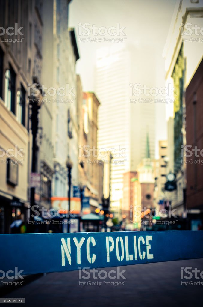 Retro NYC Crime Scene stock photo