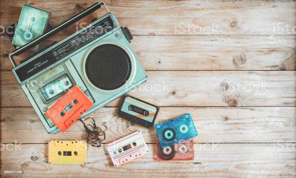 Retro object teachnology stock photo