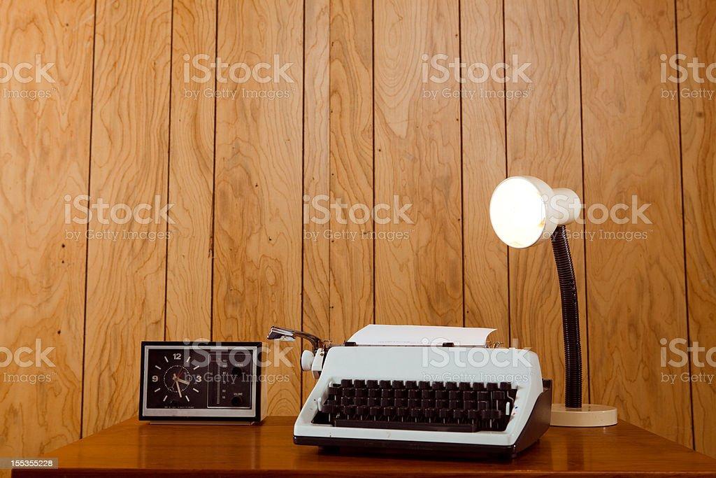 Retro Office Desk stock photo