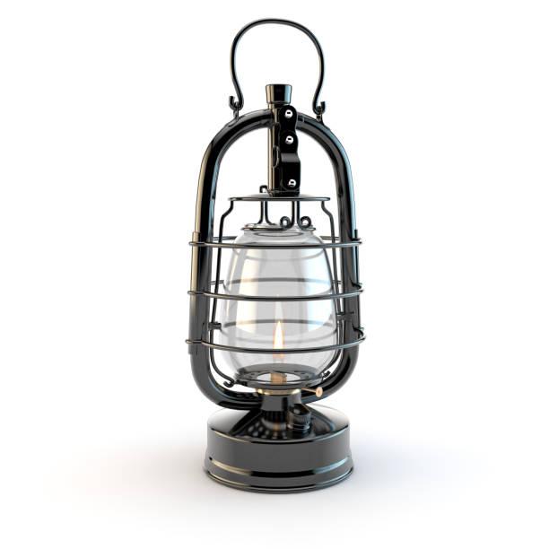 Lampe à huile rétro. - Photo